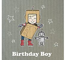 Cardboard Kid Robot (Little Stars Collection) Photographic Print