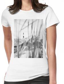 Lake Michigan Lighthouse Womens Fitted T-Shirt