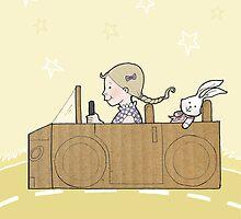 Cardboard Kid Car (Little Stars Collection) by MissIllustrator