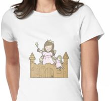 Cardboard Kid Castle (Little Stars Collection) Womens Fitted T-Shirt