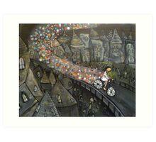 Sparkle Bike Art Print