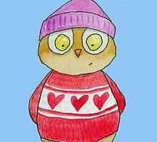 I Love Woo Owl  by AndyLanhamArt