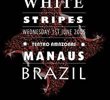 White Stripes poster design (black)  by JaySawyerdesign