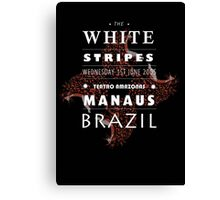 White Stripes poster design (black)  Canvas Print
