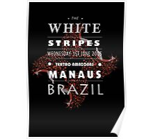 White Stripes poster design (black)  Poster
