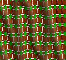 Wavy football pigskin pattern illustration with green background by creativedesignz