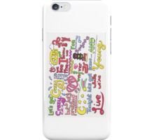 """Live While We're Young"" Lyric Drawing iPhone Case/Skin"