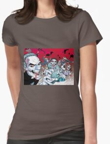 Zombie walking dead Womens Fitted T-Shirt