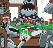 Robot Dogs Playing Poker Sticker