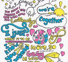 """Happily"" Lyric Drawing by Drawingsbymaci"