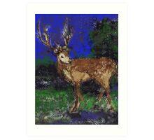 Reindeer for Xmas Art Print