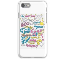 """Happily"" Lyric Drawing iPhone Case/Skin"