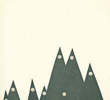 Moonlit Peaks by Cassia