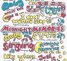 """Midnight Memories"" Lyric Drawing by Drawingsbymaci"