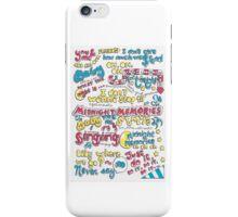 """Midnight Memories"" Lyric Drawing iPhone Case/Skin"
