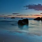 Whangamata Island Dawn Blush by Ken Wright