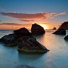 Te Teko Rocks Dawn by Ken Wright