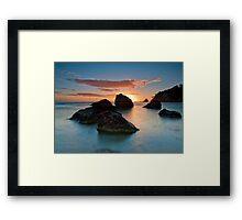 Te Teko Rocks Dawn Framed Print