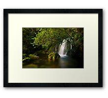 Whataroa Hidden Fall Framed Print