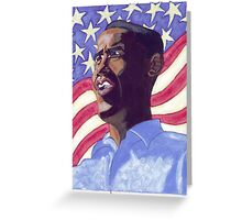 Obama Painting Greeting Card