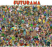 Futurama - The Whole Cast by FOEMerch