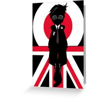 Mod Boy Silhouette Greeting Card