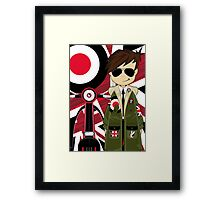 Mod Boy & Retro Scooter Framed Print