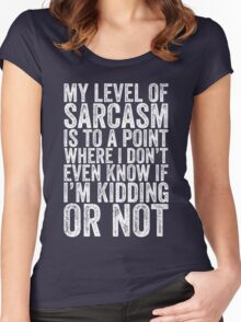 My level of sarcasm Women's Fitted Scoop T-Shirt
