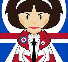 Union Jack Mod Girl by MurphyCreative