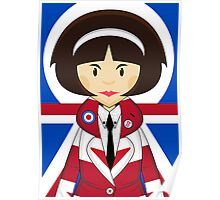 Union Jack Mod Girl Poster