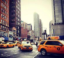 New York Taxis by Gillian Blair