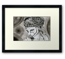 Oblivion drawing Framed Print