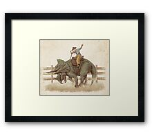 Dino Rodeo  Framed Print