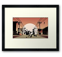 Sunset Suburban Framed Print