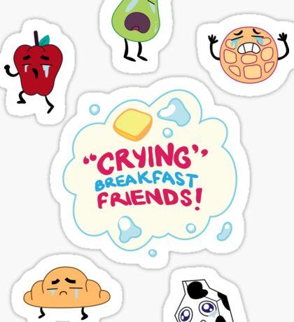 """""""Crying"""" Breakfast Friends! // Steven Universe Sticker"""
