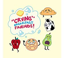 """""""Crying"""" Breakfast Friends! // Steven Universe Photographic Print"""