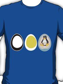 LINUX TUX  PENGUIN  3 EGGS T-Shirt