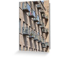 pigeon holes Greeting Card