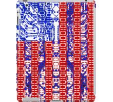 digital Flag (USA) & circuit board. iPad Case/Skin
