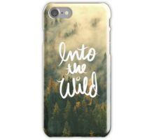 Into the wild Tumblr Forest Nature Outdoors tree print iPhone Case/Skin