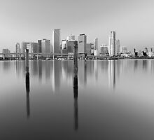 Serene City in Black and White by lattapictures
