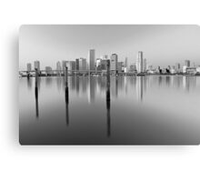 Serene City in Black and White Canvas Print