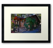 In the woods. Framed Print