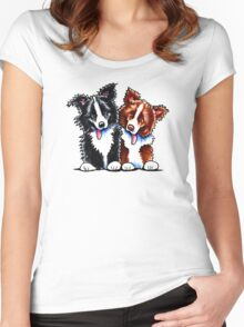 Little League Border Collies Women's Fitted Scoop T-Shirt