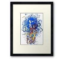 China_Marble Framed Print