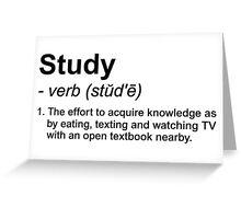 Study Definition Greeting Card