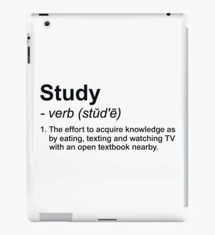 Study Definition iPad Case/Skin