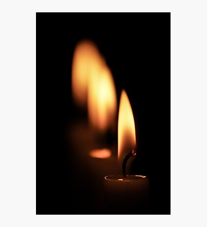 Four candles Photographic Print