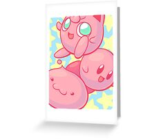 Pink Puff Trio Greeting Card