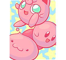 Pink Puff Trio Photographic Print